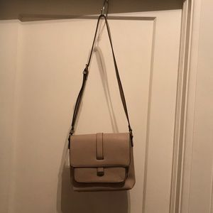 Beige magnetic close purse